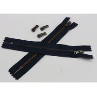 China Black Tape Extra Long Invisible Zipper , Women Dress Closed Ended Metal Zips wholesale