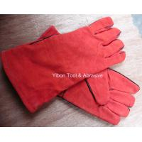 China 13 Red color Leather Welding Gloves wholesale