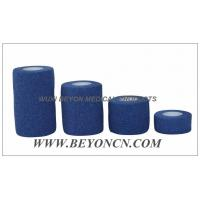 China Green Hypoallergenic EAB Cotton Elastic Adhesive Tear By Hand For Sports Use wholesale
