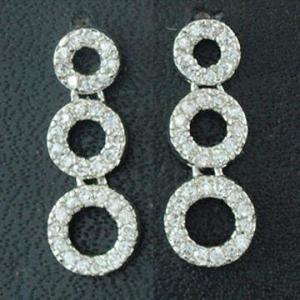 China 2012 Fashionable Bulk Hoop Silver Cubic Zirconia Earrings, OEM Orders Welcomed wholesale
