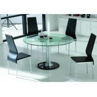 China Modern Glass Dining Table And Chairs on sale