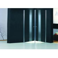 Round Profile Two Pivot Door Shower Enclosures Curved Shower Glass Enclosure