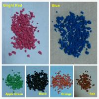China Colorful EPDM rubber granules powder for rubber flooring surface wholesale