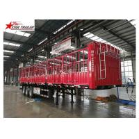China Cargo Stake Side Wall Semi Trailer 60T Heavy Duty Load wholesale