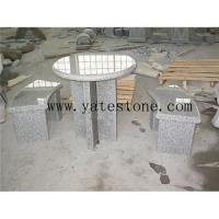 Buy cheap Granite table and bench 01 from wholesalers