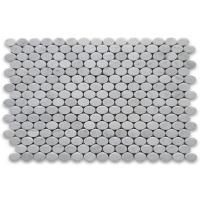 China 30x30cm Marble Mosaic Floor Tile , Round Mosaic Tiles Easy Installation on sale
