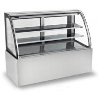 China 1800mm Two Layers Refrigerated Cake Display Cabinets With Versatile Caster Wheel wholesale