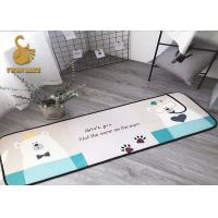 China Comfortable Washable Kitchen Rugs Non Slip For Dining Room / Kitchen wholesale
