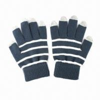 China Touchscreen Gloves/Capacitive Touch Screen Gloves/Mobile Phone Gloves, Made of Cotton wholesale