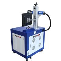 China Animal Ear Tag Pigeon Ring Laser Fiber Marking Machine CE SGS Certificate on sale