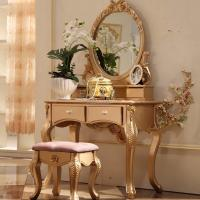 Buy cheap Design Bedroom Gold Dressing Table With Mirror from wholesalers
