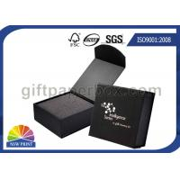 China Black or Red Custom Jewelry Gift Box with Logo Printed for Wedding Ring Packaging wholesale