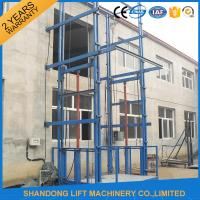 China Hydraulic Vertical Warehouse Industrial Lifts Elevators with 10 m Guide Rail CE on sale