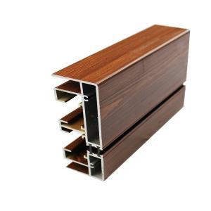 Buy cheap Штранг-прессование рамки алюминия 20 кс 80 стеклянное, дверные рамы деревянного финиша алюминиевые from wholesalers