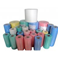 China Multi Purpose spunlace Nonwoven Cleaning Cloth Roll / Dishcloth Cleaning Wipes Roll wholesale