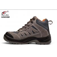 China Action Suede Leather Safety Shoes Acid Resistant S1 Standard For Steel Industry on sale