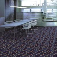 China 3d Flat Wave Pattern PVC Commercial Flooring , Patterned Wall To Wall Carpet wholesale