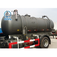 China 6 Cubic Meters Diesel Sewage Suction Truck with 5m Suction Depth 290HP wholesale