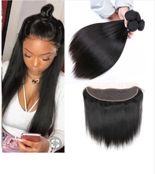 Quality 13 X 4 Lace Frontal 100% Malaysian Hair Extensions Length 8'' -   24'' for sale