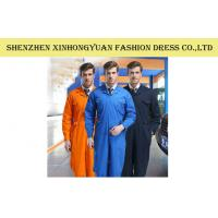 China Polyester Cotton Three Color Overall Factory Worker Uniforms , Mens Work Clothes on sale