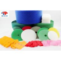 China Coloured polyester Dots / Circle hook and loop tape for sewing , Strong Sticky wholesale