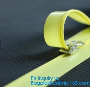 China PP clear long chain press lok zipper, seal pe document bag press lok zipper, double slider press lok zipper, SLIDER ZIPP on sale