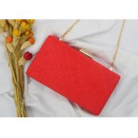 China Handmade Rectangle Shape Evening Clutch Bags , Party Fashion Small Clutch Purse wholesale
