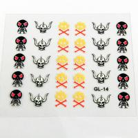 3PCS Halloween Nail Art Decals Full Cover Type , OEM and ODM Decals