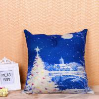 Quality Festival Decoration Pillow Cushion Covers Square Shape With Printed Christmas for sale