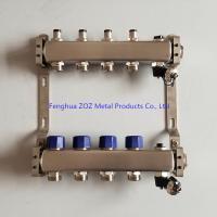 China 4 Loop water SS manifold for central underfloor heating system , Under floor heating manifolds wholesale
