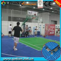 China Green And Blue Outdoor Basketball Court For Mens Basketball Game wholesale