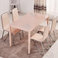 China Rectangular Glass Top Dining Room Table , Tempered Glass Top Dinette Sets wholesale