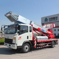 China Euro 2 Double Cabin Aerial Work Platform Truck 8-20m Work Height 160hp ZZ1324N3325S wholesale