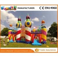 China Colorful PVC Giant Inflatable Moonwalk Climbing Jumping Bouncy Castle For Kids on sale