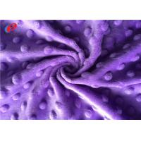 China Super Soft Minky Plush Fabric Polyester Minky Dot Fabric For Baby Blanket wholesale