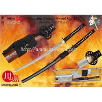 China Handmade folded and clay-tempered Sword with Shihozume lamination and cane wrapped saya wholesale