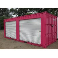 China Prefab Modified Shipping Container House With Two Pull Down Doors Front wholesale