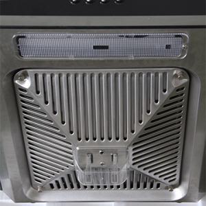 China 900mm arc glass push button kitchen chimney range hoods CE CB on sale