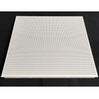 China Fireproof Perforated Aluminum 0.7mm Thickness / Metal False Ceiling Tiles 600 X 600mm wholesale