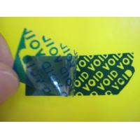 Buy cheap White / Blue / Black High Residue Tamper Evident Security Labels For Anti-counterfeit from wholesalers