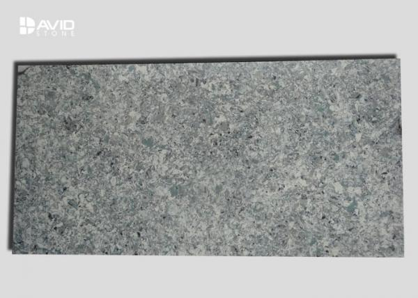 Quality Natural Grey Quartz Slabs Moisture Resistant Quartz Kitchen Countertops Slab for sale