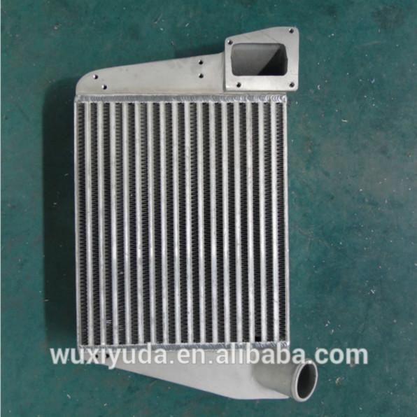 Quality le refroidisseur d'air de charge de refroidisseur intermédiaire a soudé le refroidisseur d'automobile d'échangeur de chaleur d'aileron de plat d'échangeur de chaleur de barre de plat for sale