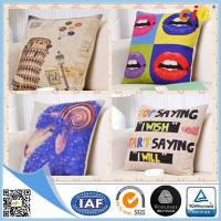 China Natural Color Digital Printing  Home Textile Products Cotton Decorative Cushion Covers wholesale