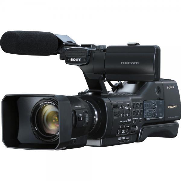 sony nex-ea50uh worldcam camcorder with 18-200mm servo zoom len