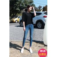 Low Rise Skinny Womens Tapered Jeans With Zipper Pockets Light Blue