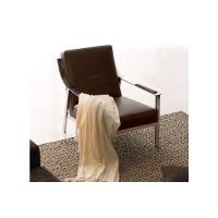China European Pu or Leather Modern Upholstered Chairs Single Arm Chair , Italian leather chair Dongguan on sale