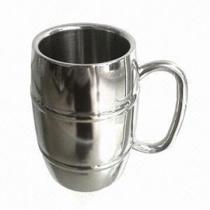 China Beer mug/stainless steel beer mug, barrel shape, double wall, FDA certified wholesale
