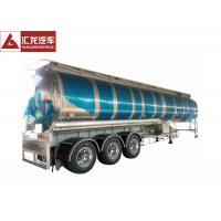 Buy cheap 3 Axle 42000 L Fuel Transfer Tank Trailer / Tanker Trailer Large Carrying from wholesalers