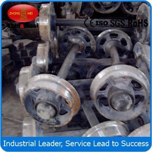 China fixed car wheel sets , Cast steel mine car wheel sets , wheel sets for track transporting wholesale
