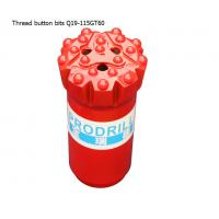 China GT60 15 buttons 115mm tungsten carbide hard rock drilling thread button bits for mining wholesale